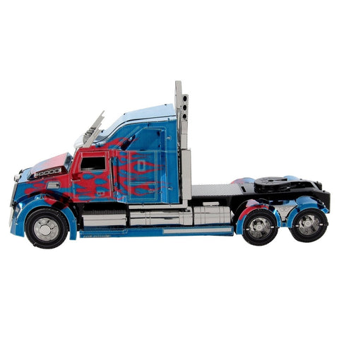 Fascinations ICONX Transformers Optimus Prime Western Star 5700 Truck 3D Metal Model Kit