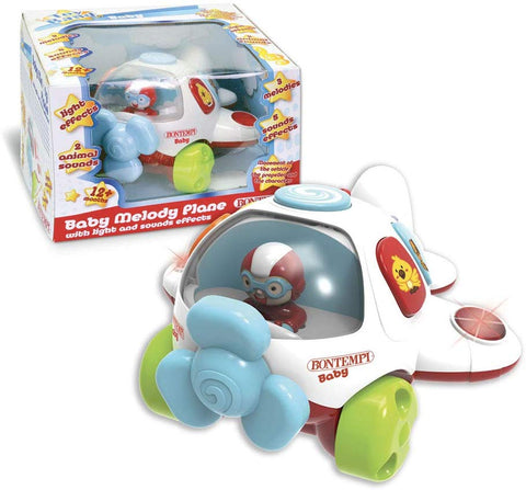 Bontempi Baby Melody Plane - Electronic Airplane Light and Music Toy