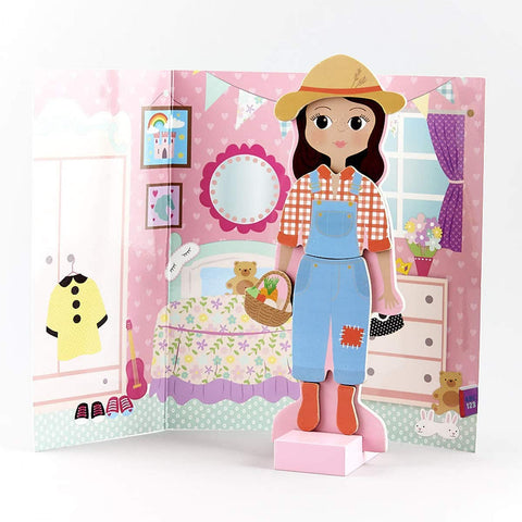 Floss & Rock Magnetic Dress Up Wooden Doll - Sofia