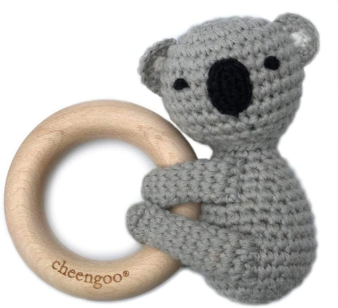 Cheengoo All Natural Baby Toy - LittleCuddler Koala Rattle