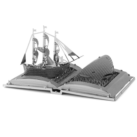 Fascinations Metal Earth Book Sculpture 3D Metal Model Kits - Moby Dick & The Old Man and the Sea - Set of 2