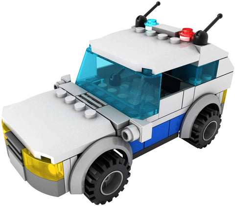 Light STAX Hybrid Light and Sound Building Bricks Toy - Police Car