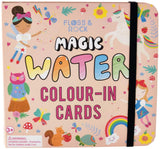 Floss & Rock Magic Water Color-In Cards - Fairy Unicorn