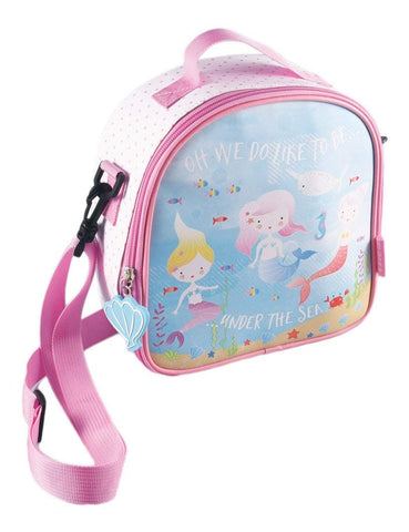 Floss & Rock Insulated Lunch Bag with Detatchable Strap - Mermaid