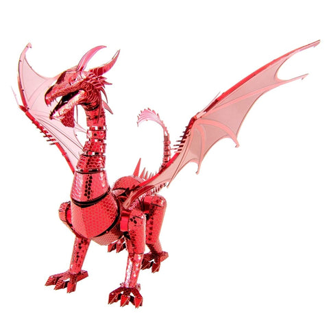 Fascinations ICONX Red Dragon 3D Metal Model Kit