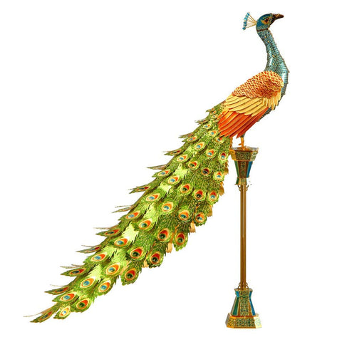 Fascinations ICONX Peacock 3D Metal Model Kit