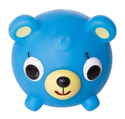 Sankyo Toys Jabber Ball Squeeze and Play Sound Ball - Neon Blue Bear