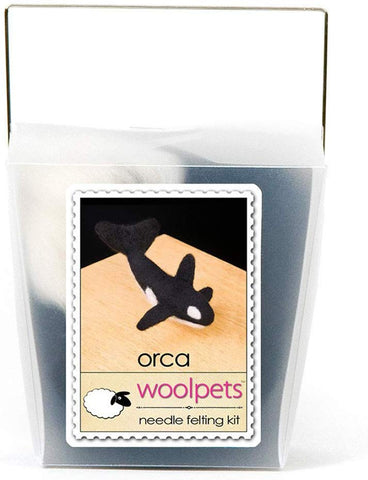 WoolPets Easy Needle Felting Craft Kit - Orca (Makes 2)