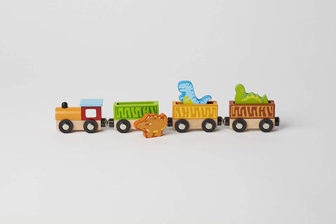 The Original Toy Company Wood Toy Train Playset - Dinosaur Train