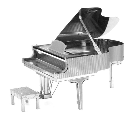 Metal Earth 3D Laser Cut Model Silver Edition - Grand Piano (2 Sheets)
