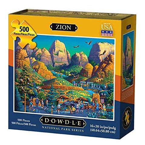 Dowdle National Park Series Jigsaw Puzzle - Zion - 500 Piece