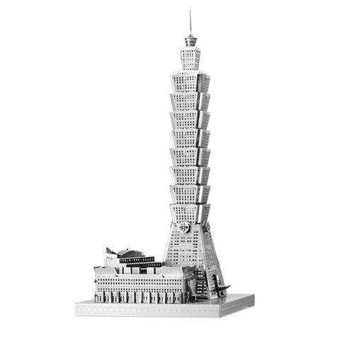Fascinations ICONX Taipei 101 Building 3D Metal Model Ki