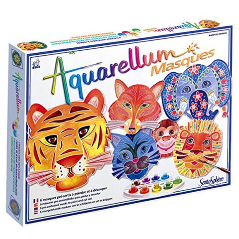 Sentosphere Aquarellum - Animal Masks Magic Art Canvases