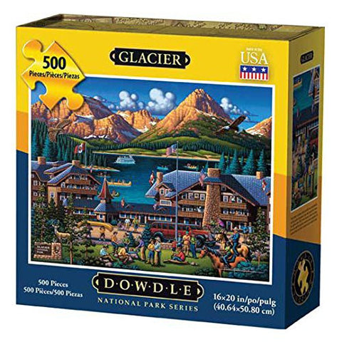 Glacier National Park 500 Piece Puzzle by Dowdle Folk Art