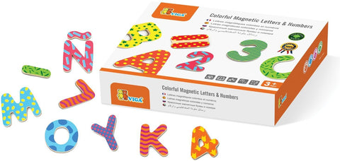 The Original Toy Company Magnetic Wooden Numbers and Letters