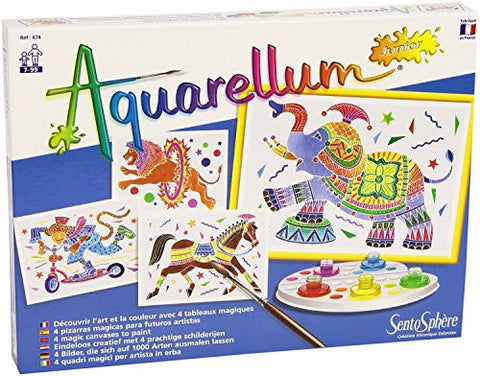 SentoSphere Aquarellum Arts and Crafts Watercolor Paint Set Junior - Circus
