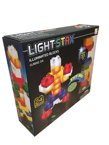 Light Stax Illuminated Building Blocks Junior - 24 Piece Set