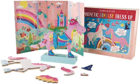 Floss & Rock Wooden Dress Up Magnetic Toy Playset - Fantasy Pets