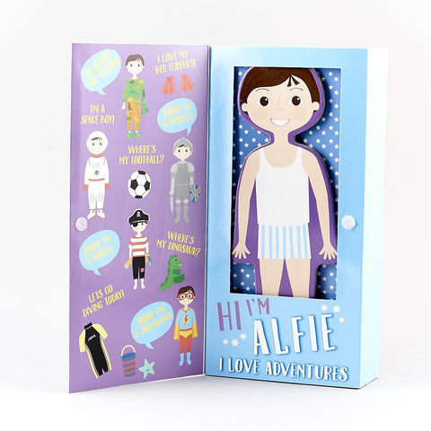 Floss & Rock Magnetic Dress Up Wooden Doll - Alfie
