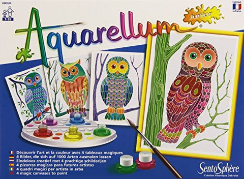 SentoSphere Aquarellum Junior Magic Canvases - Owls