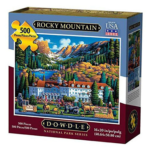 Rocky Mountain 500 Piece Puzzle by Dowdle Folk Art