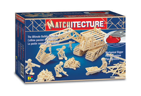 Bojeux Matchitecture Wood Microbeam Model Construction Set - Mechanical Digger