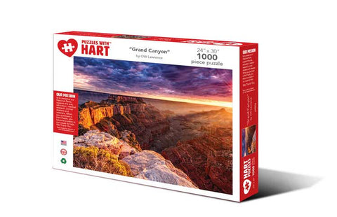 Hart Puzzles Travel the USA 1000 piece Jigsaw Puzzle - Grand Canyon by OW Lawrence
