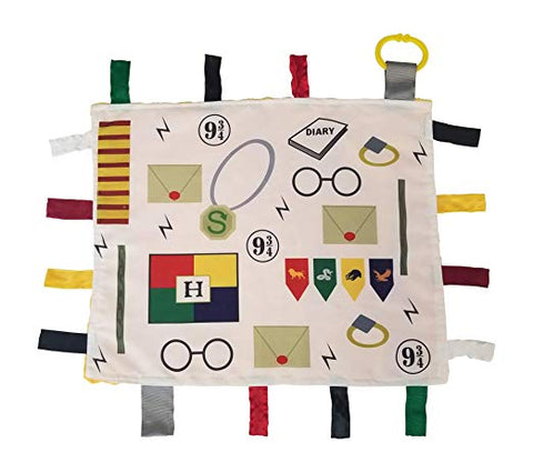 Baby Jack Blankets Educational Learning Lovey Ribbon Tag Security Blankets (Baby Wizard)