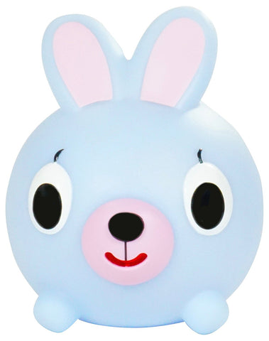 Sankyo Toys Jabber Ball Squeeze and Sound Play Ball - Blue Bunny