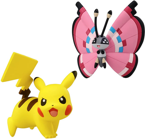 Pokémon 2 Pack Small Figures Pikachu vs Vivillon