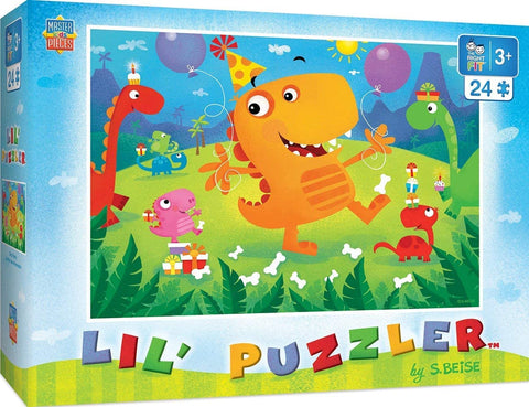 MasterPieces The Right Fit 24-Piece Lil' Puzzler JIgsaw Puzzle - Dino Party