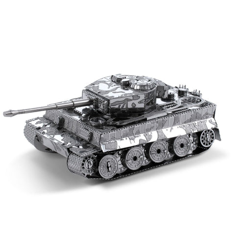 Metal Earth 3D Laser Cut Model Silver Edition - Tiger I Tank (2 Sheets)