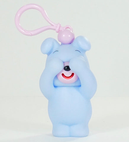 Sankyo Toys Jabb-A-Boo Squeeze and Sound Play Peek-A-Boo Keychain Toy - Blue Dog