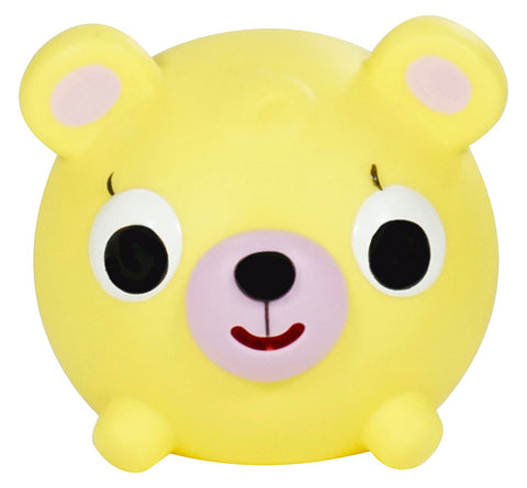 Sankyo Toys Jabber Ball Squeeze and Sound Play Ball - Yellow Bear