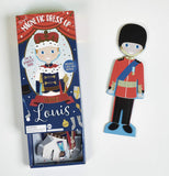 Floss & Rock Magnetic Dress Up Wooden Doll - Louis