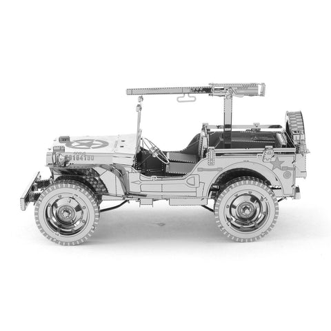 Metal Earth ICONX Willys MB Jeep 3D Metal Model Kit