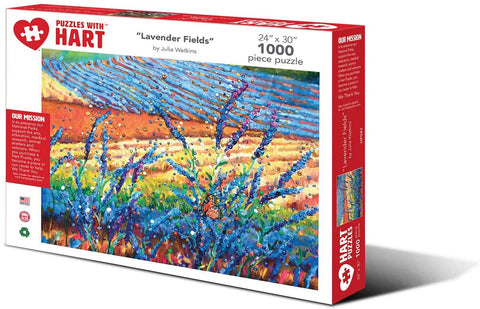 "Hart Jigsaw Puzzle 1000 Pieces X-Large 24"" x 30"" - Lavender Fields by Julia Watkins"