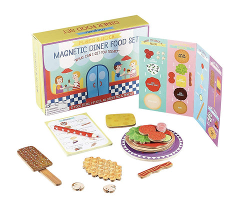 Floss & Rock Magnetic Diner Food Set