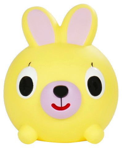Sankyo Toys Jabber Ball Squeeze and Sound Play Ball - Yellow Bunny