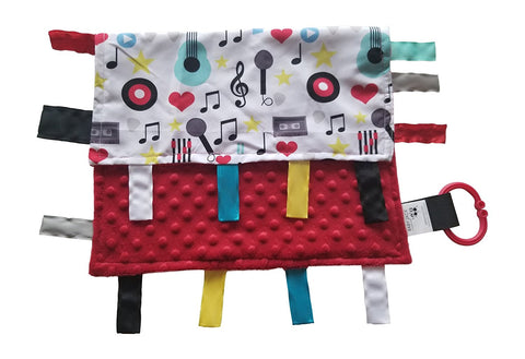 Baby Jack Educational Learning Lovey Ribbon Tag Security Blankets - Music