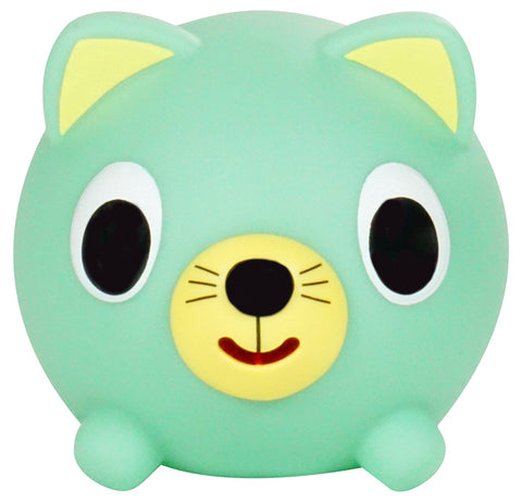 Sankyo Toys Jabber Ball Squeeze and Sound Play Ball - Green Cat
