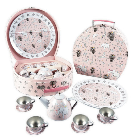 Floss & Rock 11-Piece Tin Tea Set - Party Animal