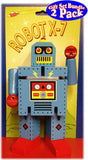 "Robot X-7 Bendable Wooden 6.5"" Robots - 2 Pack Bundle - 1 Red & 1 Blue"