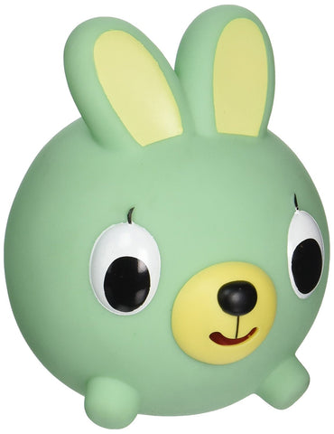 Sankyo Toys Jabber Ball Squeeze and Sound Play Ball - Green Bunny