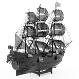 Fascinations ICONX Black Pearl Ship - Black Version - 3D Metal Model Kit