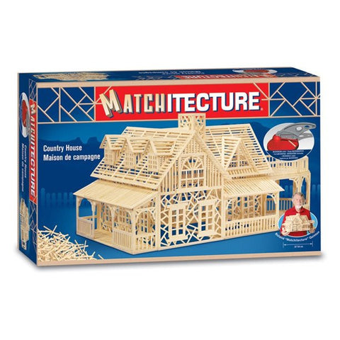 Bojeux Matchitecture Wood Microbeam Model Construction Set - Country House