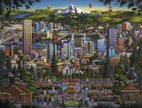 Dowdle Jigsaw Puzzle - Portland City of Roses - 1000 Piece