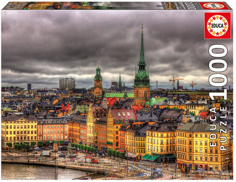 Educa - Views of Stockholm Sweden - 1000 Piece Jigsaw Puzzle