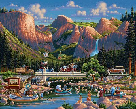 Dowdle National Park Series Jigsaw Puzzle - Yosemite - 500 Piece