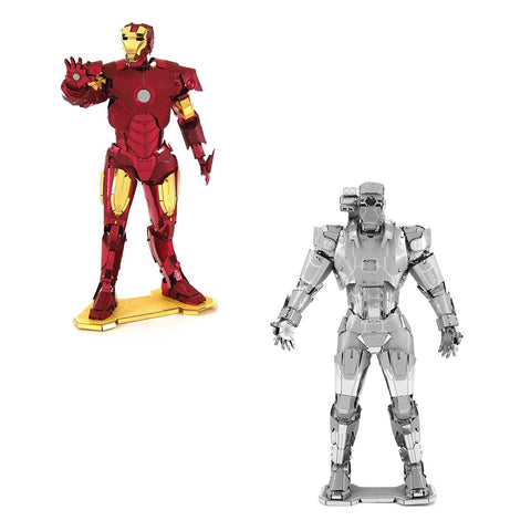 Set of 2 Marvel Avengers Metal Earth 3D Laser Cut Models: Iron Man and War Machine